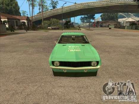 Chevrolet Camaro Falken 1969 для GTA San Andreas вид сзади