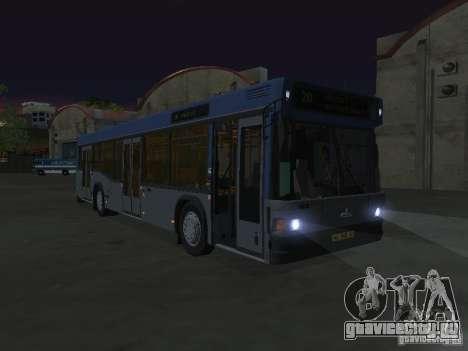 МАЗ 103 для GTA San Andreas вид изнутри