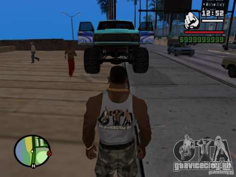 Monster A в стиле ФК ЗЕНИТ для GTA San Andreas вид справа