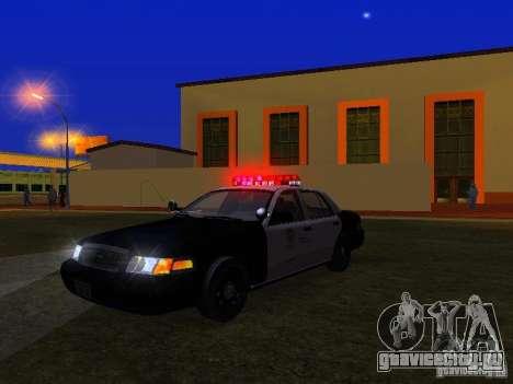 Ford Crown Victoria San Andreas State Patrol для GTA San Andreas вид снизу