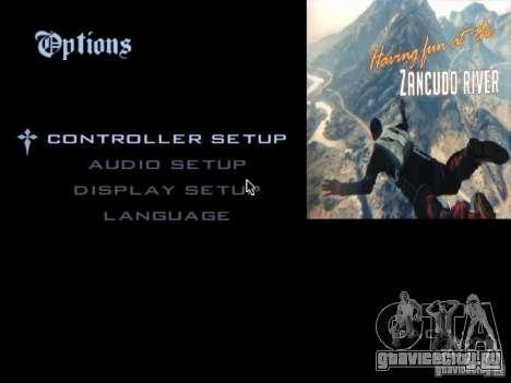 Главное Меню в Стиле GTA 5 для GTA San Andreas второй скриншот