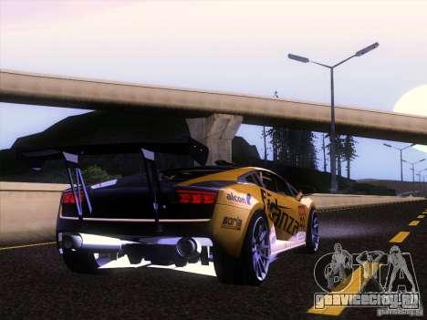 Lamborghini Gallardo Racing Street для GTA San Andreas вид сзади
