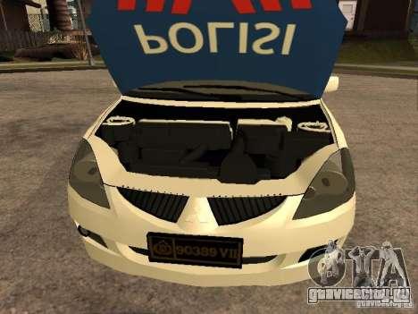 Mitsubishi Lancer Police Indonesia для GTA San Andreas вид справа