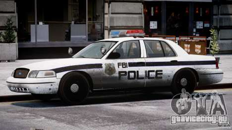 Ford Crown Victoria FBI Police 2003 для GTA 4 салон