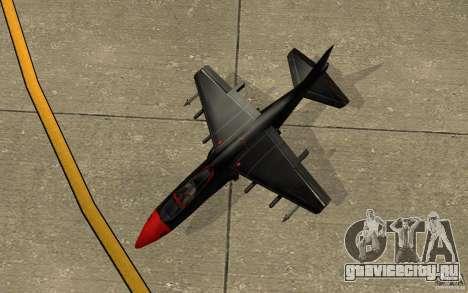 Black Hydra v2.0 для GTA San Andreas вид сзади
