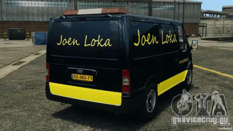 Ford Transit Joen Loka [ELS] для GTA 4 вид сзади слева