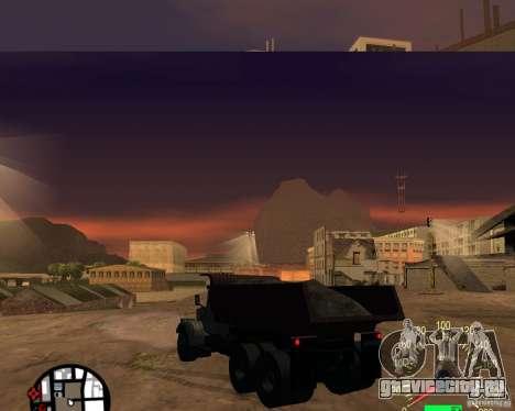 КрАЗ-256 Самосвал для GTA San Andreas вид сзади слева