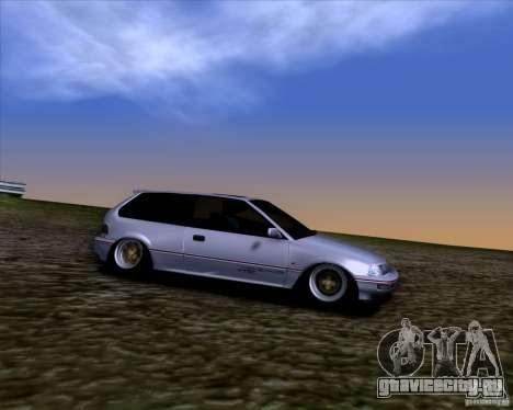 Honda Civic EF9 Hatch Stock для GTA San Andreas вид сзади