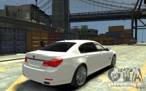 BMW ActiveHybrid 7 2010 для GTA 4 вид справа