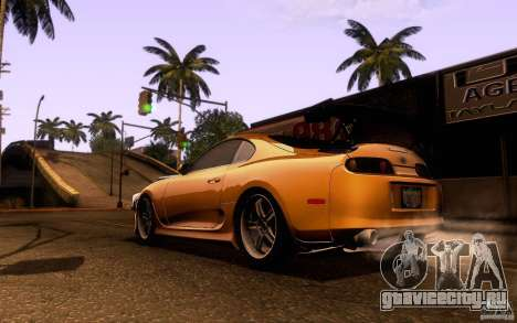 Toyota Supra Top Secret для GTA San Andreas вид сзади слева