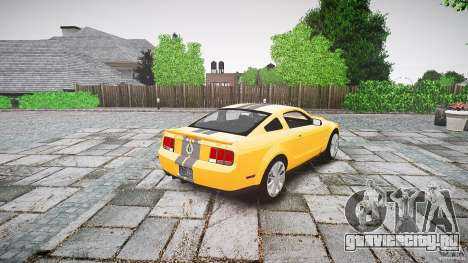 Shelby GT 500 KR 2008 K.I.T.T. для GTA 4 вид сбоку