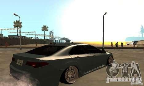 Acura TSX 2010 для GTA San Andreas вид сзади слева