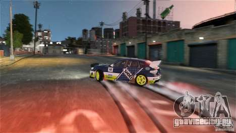 Subaru Impreza WRX STI Rallycross SHOEL Vinyl для GTA 4 вид изнутри