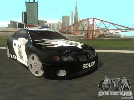 Pontiac GTO Police для GTA San Andreas
