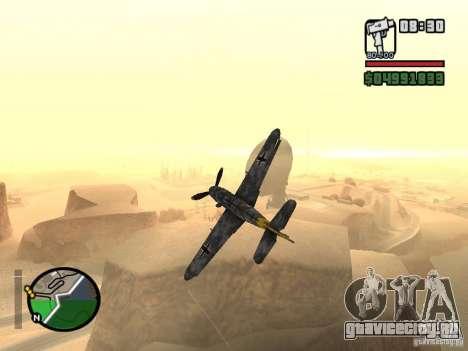 BF-109 G-16 для GTA San Andreas вид сзади