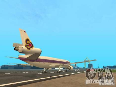 McDonell Douglas  DC 10 Thai Airways для GTA San Andreas вид справа