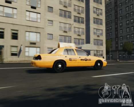 Ford Crown Victoria NYC Taxi 2012 для GTA 4 вид справа