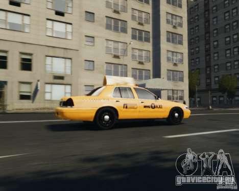 Ford Crown Victoria NYC Taxi 2012 для GTA 4 вид справа