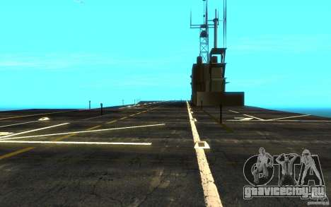 New Aircraft carrier для GTA San Andreas вид сзади