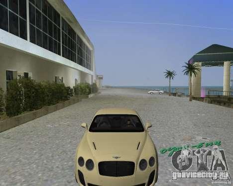 Bentley Continental SS для GTA Vice City вид сзади слева