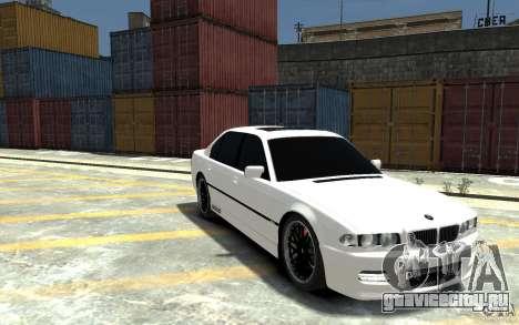 BMW 750i E38 HAMANN для GTA 4 вид сзади
