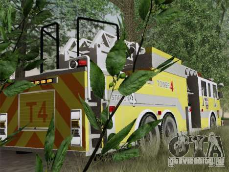 Pierce Arrow XT BCFD Tower Ladder 4 для GTA San Andreas двигатель