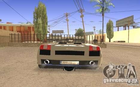 Lamborghini Galardo Spider для GTA San Andreas вид изнутри
