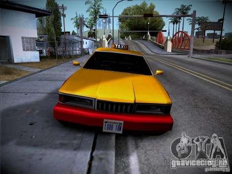 Sentinel Taxi для GTA San Andreas вид слева