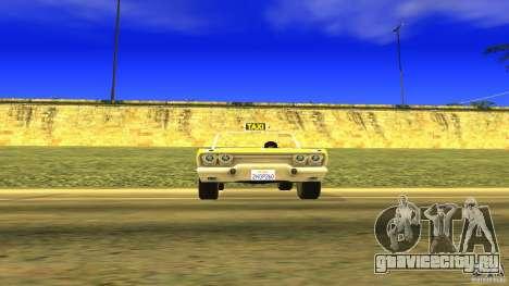 Crazy Taxi - B.D.Joe для GTA San Andreas вид справа