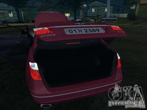 Hyundai Genesis для GTA San Andreas вид сверху