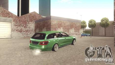 Mercedes-Benz E-Class Estate S212 для GTA San Andreas вид изнутри