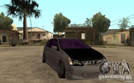 Honda Civic Type-R для GTA San Andreas вид сзади