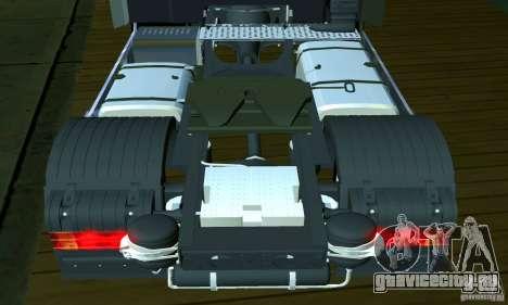 Mercedes-Benz Actros 2012 для GTA San Andreas вид изнутри