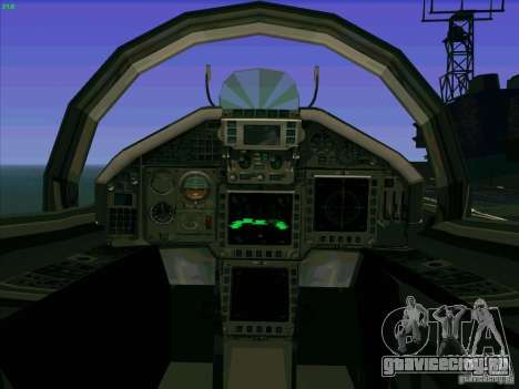 Eurofighter-2000 Typhoon для GTA San Andreas вид изнутри