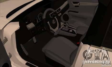 Lexus GS350 F Sport Series IV 2013 для GTA San Andreas вид сзади