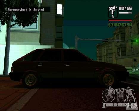 VAZ 2109 05 Final для GTA San Andreas вид сзади слева