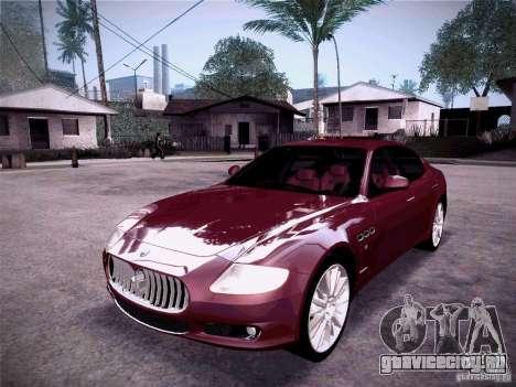 Maserati Quattroporte 2010 для GTA San Andreas вид слева
