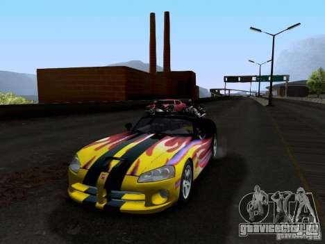 Dodge Viper SRT-10 Custom для GTA San Andreas вид сверху