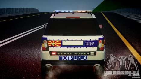 Range Rover Macedonian Police [ELS] для GTA 4 двигатель