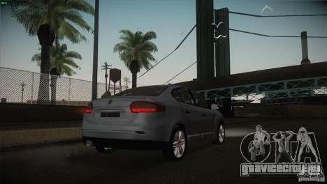 Renault Fluence для GTA San Andreas вид сверху
