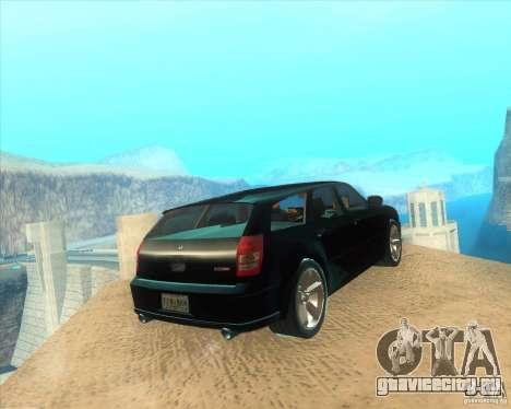 Dodge Magnum RT 2008 v.2.0 для GTA San Andreas вид сзади слева