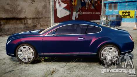 Bentley Continental GT v2.0 для GTA 4 вид слева