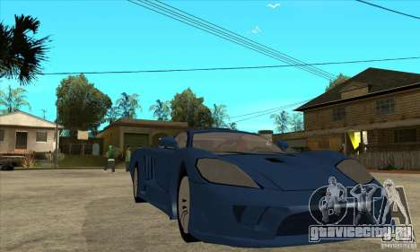 Saleen S7 v1.0 для GTA San Andreas вид сзади