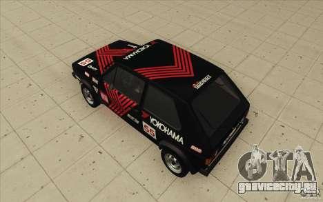 Volkswagen Golf Mk1 - Stock для GTA San Andreas салон