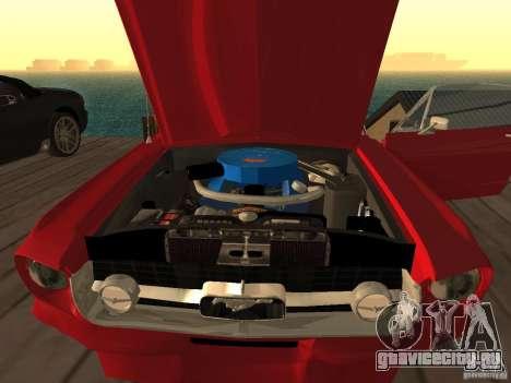 Ford Mustang 67 Custom для GTA San Andreas вид сзади слева