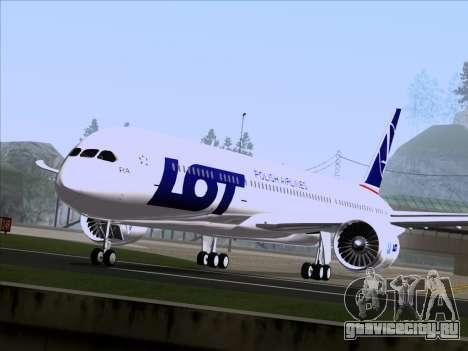 Boeing 787-9 LOT Polish Airlines для GTA San Andreas вид сзади слева