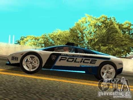 Lamborghini Murcielago LP640 Police V1.0 для GTA San Andreas вид справа