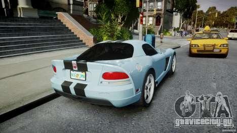 Dodge Viper SRT-10 для GTA 4 вид сбоку