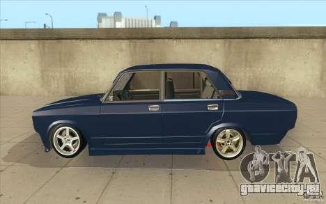 ВАЗ-2107 Lada Street Drift Tuned для GTA San Andreas вид слева