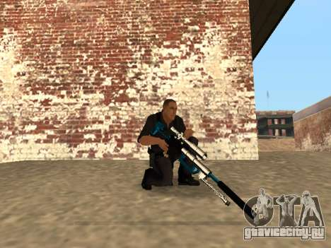 Chrome and Blue Weapons Pack для GTA San Andreas десятый скриншот